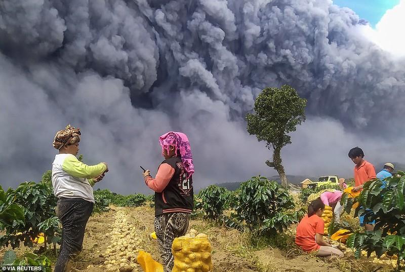 """Canh hai hung nui lua Indonesia """"thuc giac"""", phun trao khoi bui-Hinh-11"""