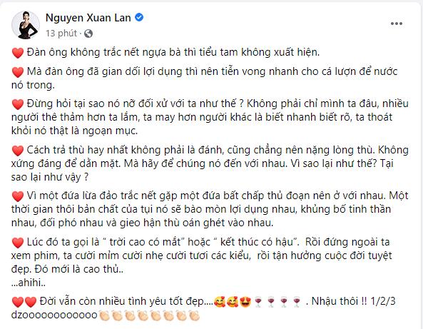 """Xuan Lan: """"Dan ong trang hoa nen thanh doi voi tieu tam thu doan"""""""