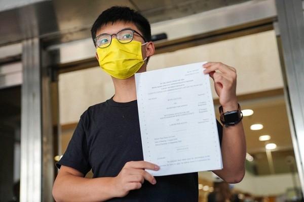 Hoang Chi Phong bi canh sat Hong Kong bat giu