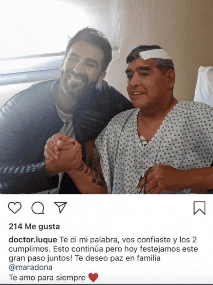 Maradona xo xat voi bac si vai ngay truoc khi qua doi