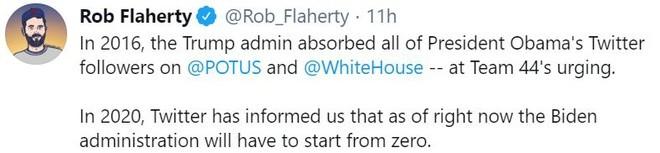 Ong Biden tiep quan Twitter tong thong, nhung mat sach nguoi theo doi