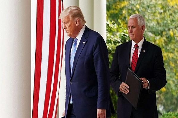No luc thach thuc bau cu, ong Trump gap ong Pence truoc ky nghi