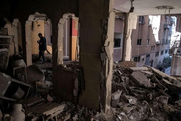 Israel danh bom nha cua thu linh Hamas o Dai Gaza