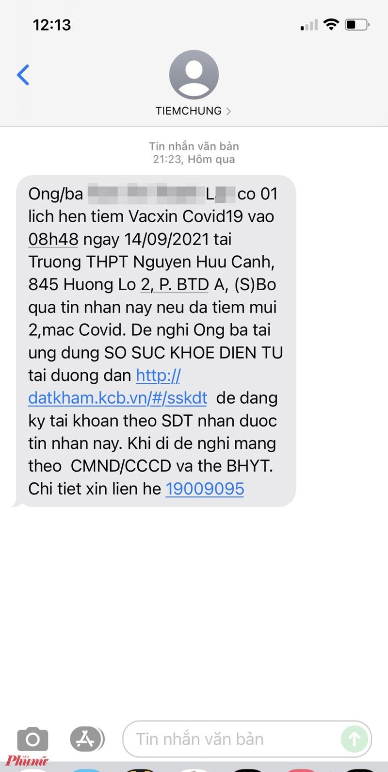 Tiem nham vac xin Vero Cell cho nguoi da tiem Moderna o Binh Tan