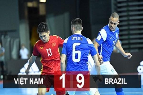 Dang cap qua khac biet, DT futsal Viet Nam thua dam Brazil