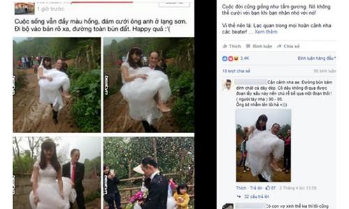 Sot xinh xich mang Facebook chu re be vo loi bun