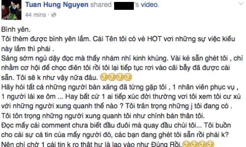 Tuan Hung len tieng khi bi to danh nhan vien ban xang
