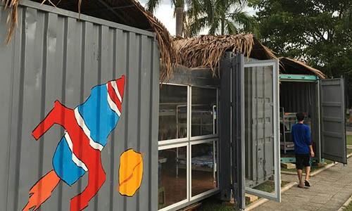 Tranh cai viec bien container thanh nha ban tru o Quang Ngai