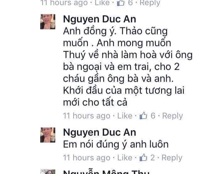 """Ngoc Thuy phan ung gi khi dai gia Nguyen Duc An phat ngon """"con yeu"""
