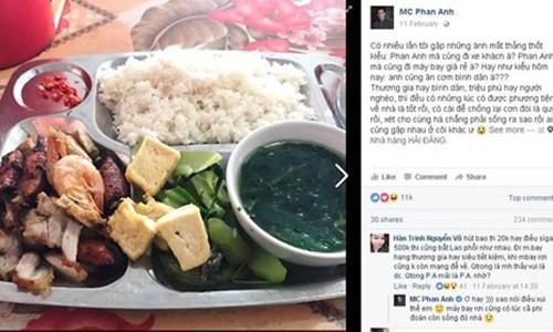 Bat ngo voi bua com binh dan 50 nghin cua MC Phan Anh