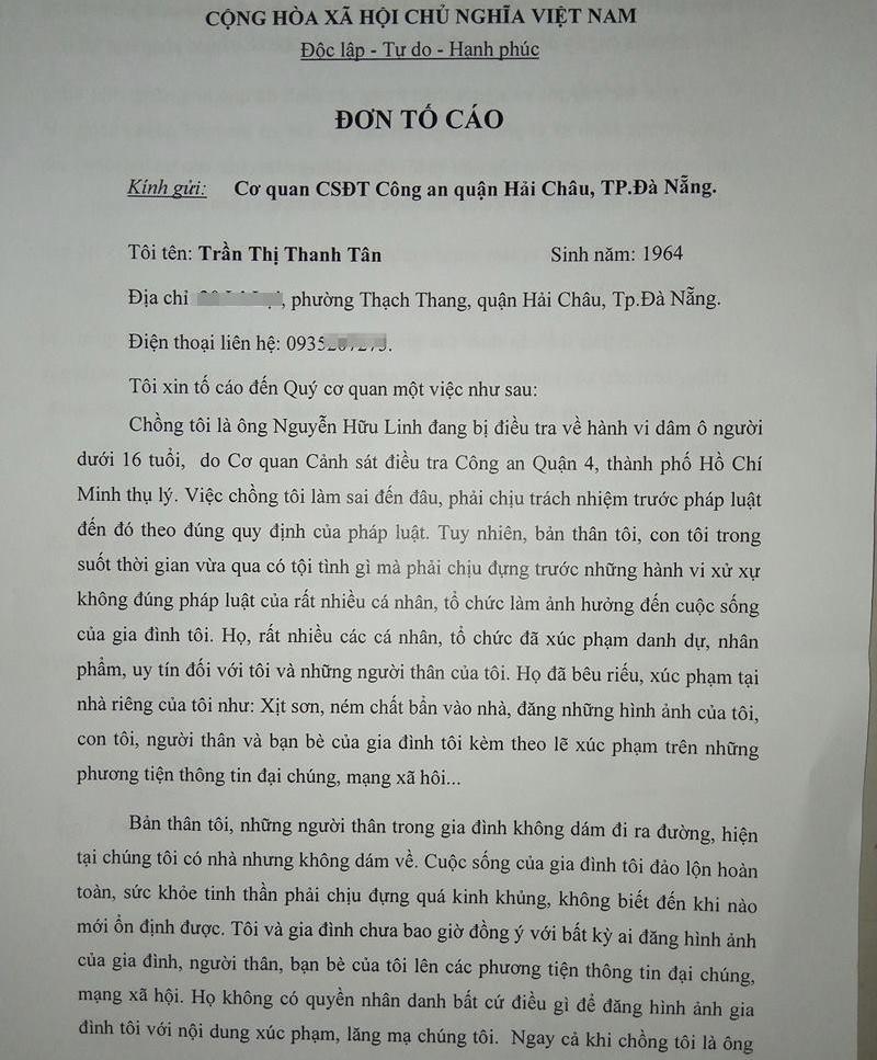 Vo ong Nguyen Huu Linh rut don to viec bi lam nhuc