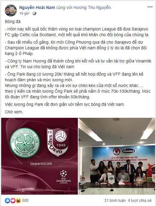 Vi sao doanh nhan Nguyen Hoai Nam duoc bau Duc de cu lam Pho chu tich VFF?-Hinh-2