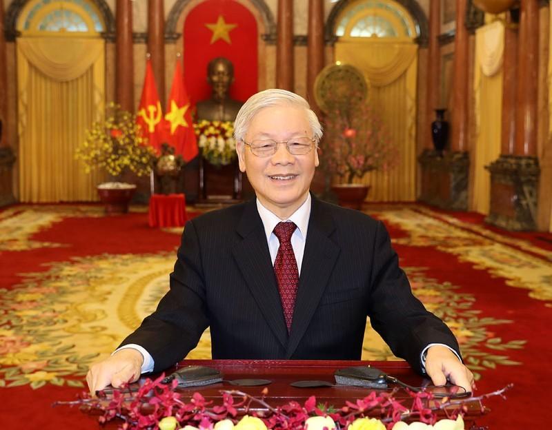 Tong Bi thu, Chu tich nuoc Nguyen Phu Trong chuc Tet Canh Ty 2020