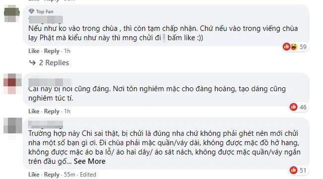 Chi Pu bi chi trich khi di chua dau nam moi nhung lai dien vay ngan-Hinh-2