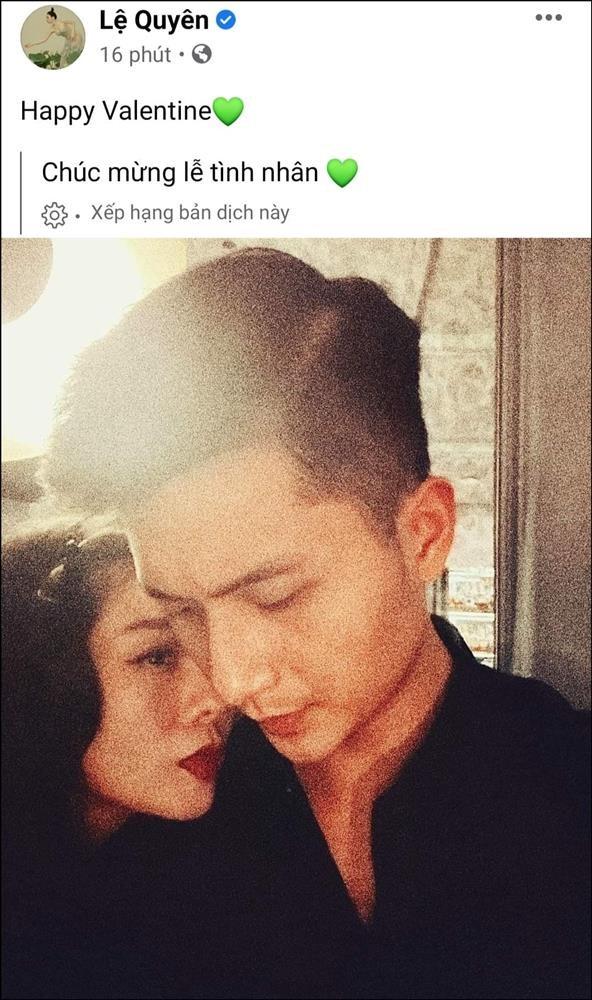 Le Quyen don Valentine ben Lam Bao Chau, chong cu cung khoe 'nhan tinh'