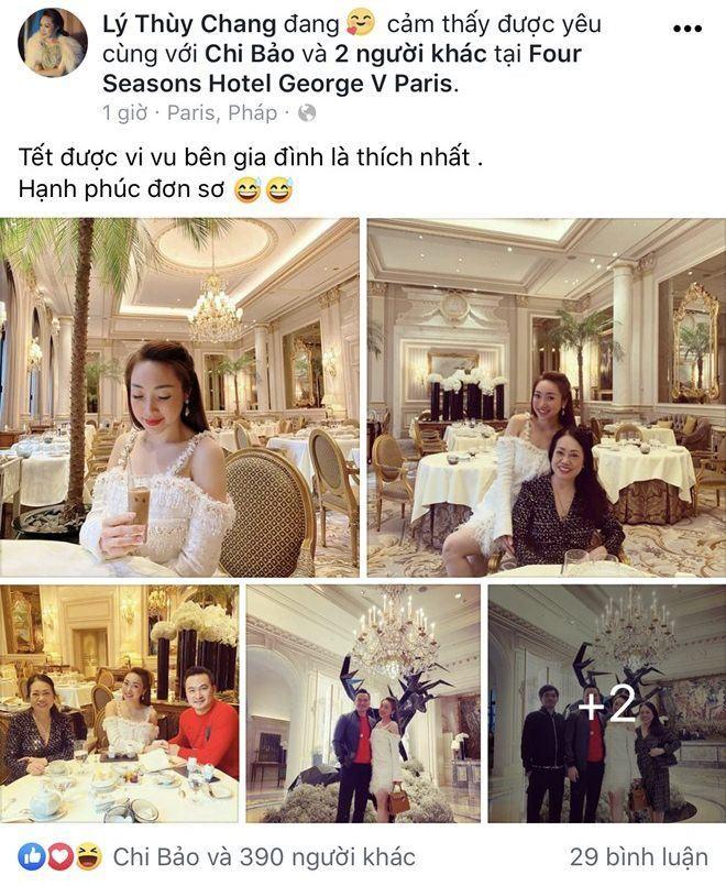 Sao viet dip Tet 2020: Vo chong Xuan Lan di My lam tiec bao hy, Trang Tran sang Uc gap ong xa-Hinh-12