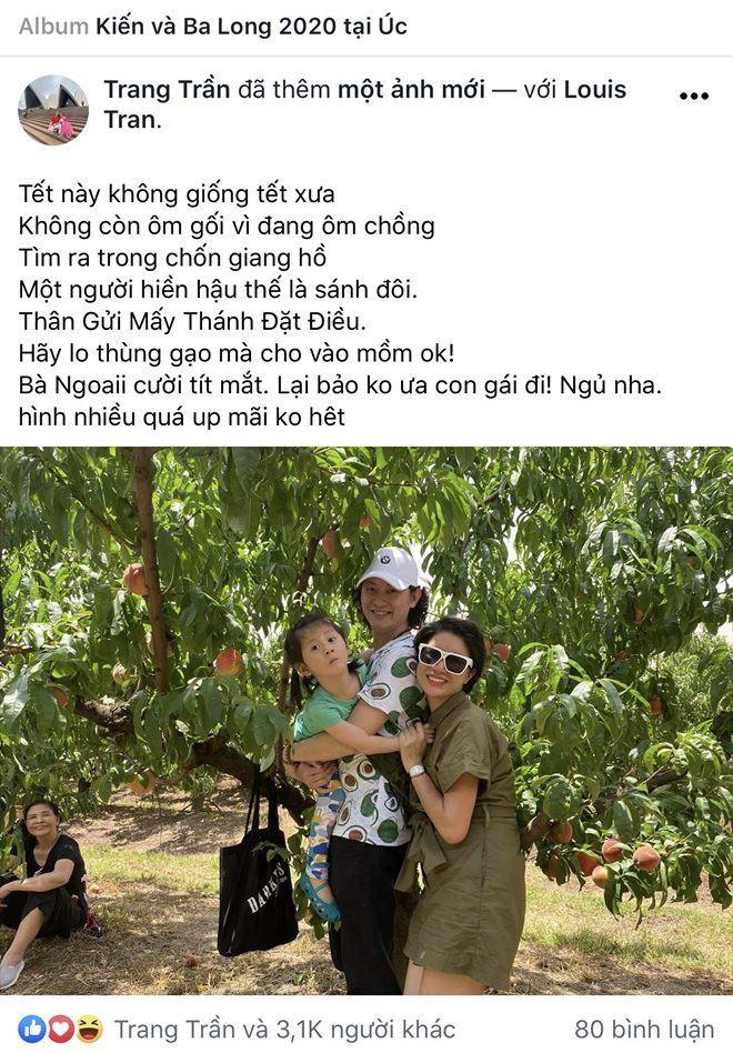 Sao viet dip Tet 2020: Vo chong Xuan Lan di My lam tiec bao hy, Trang Tran sang Uc gap ong xa