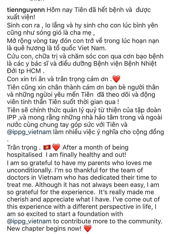 "Tien Nguyen khoi benh COVID-19... chinh thuc la ""ba Chu"" Quy tu thien tap doan IPP"