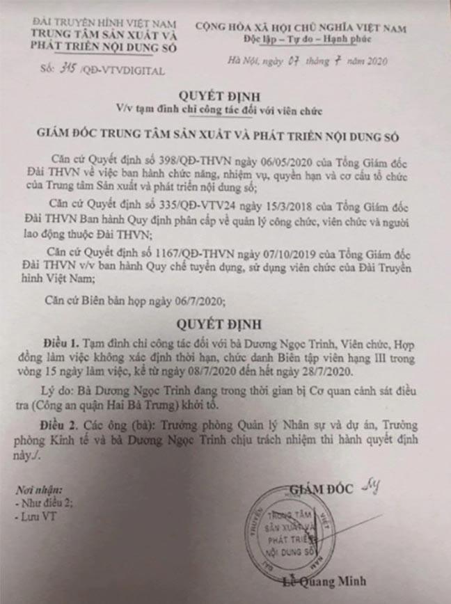 BTV Ngoc Trinh bi to lien quan vu an co y gay thuong tich: Su that…mat su nghiep?