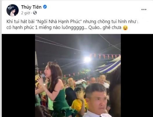 Cong Vinh phan ung soc khi nghe vo hat khien Thuy Tien