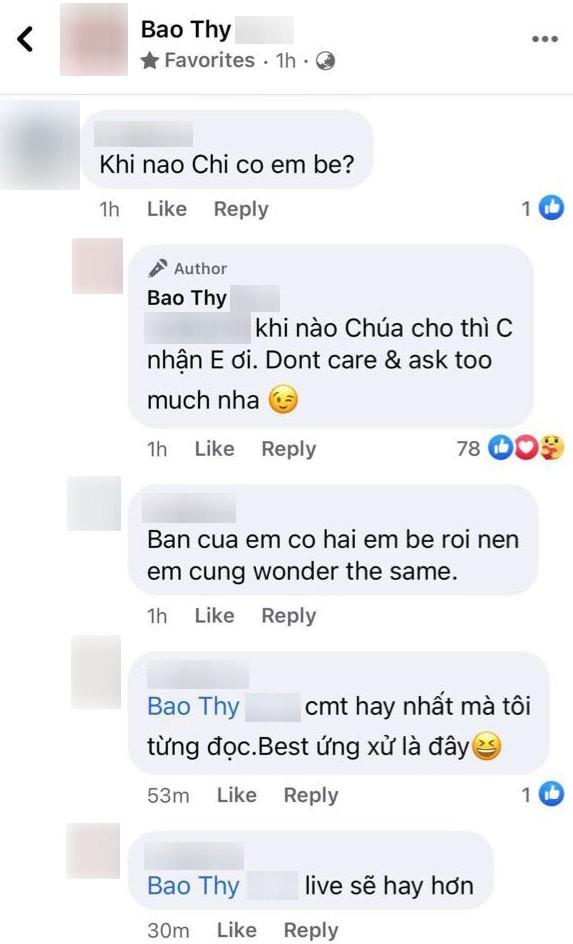 Bao Thy dap tra khi fan kem duyen hoi