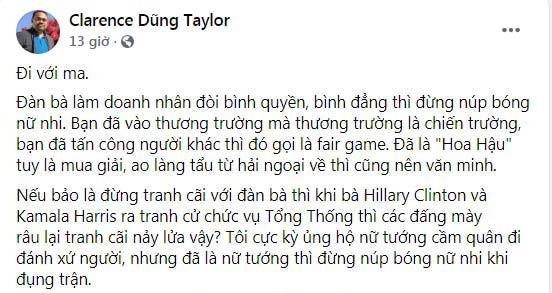 "Dung Taylor ""bat"" Hoa hau Thu Hoai: ""Tien khong mua duoc nhan cach""-Hinh-2"