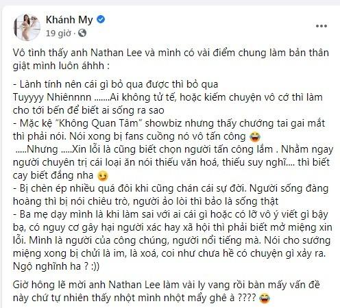 """Khanh My - Nathan Lee hen gap mat, ban ke """"dau"""" voi Ngoc Trinh?-Hinh-2"""