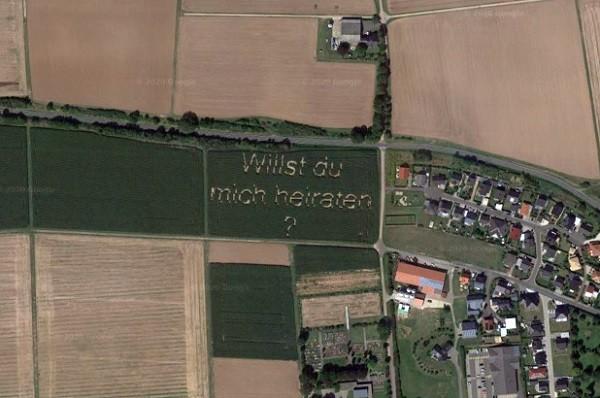 Google Maps chup lai man cau hon lang man cua nguoi nong dan Duc