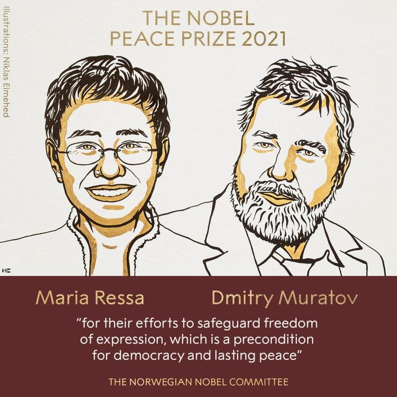 Bi mat it biet ve hai nha bao doat giai Nobel Hoa binh 2021