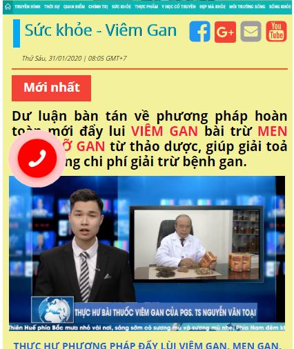 "Ai dung sau cac quang cao TPBVSK Dai Kien Can ""chua"" viem gan?"