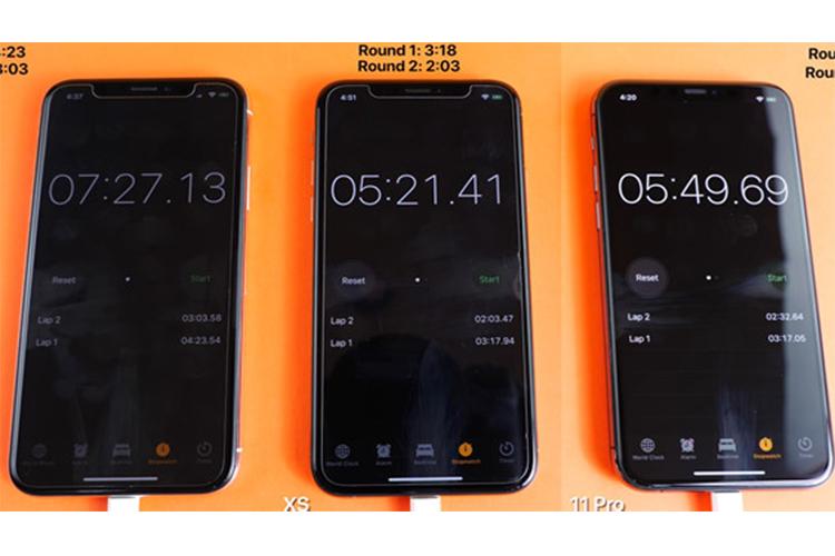 iPhone 11 Pro thua iPhone XS trong bai kiem tra toc do