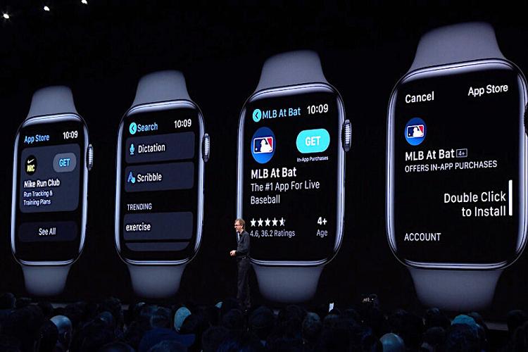 Watchos 6 cap nhat tren Apple watch series 3 va 4