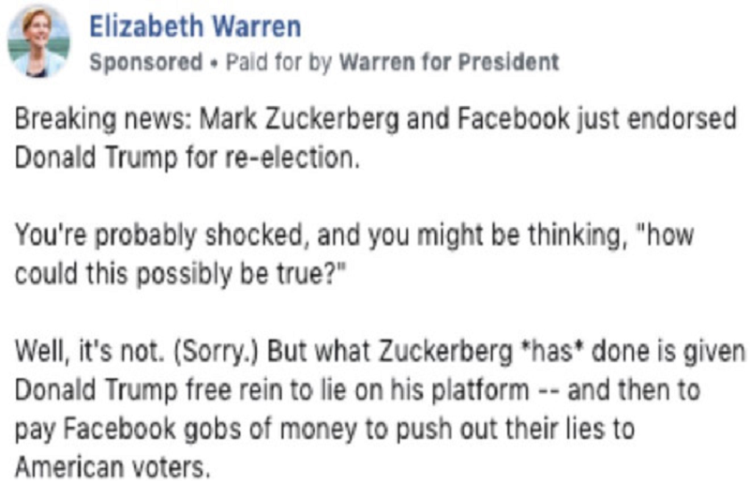 Ham tien, Facebook chap nhan ca quang cao boi nho Mark Zuckerberg