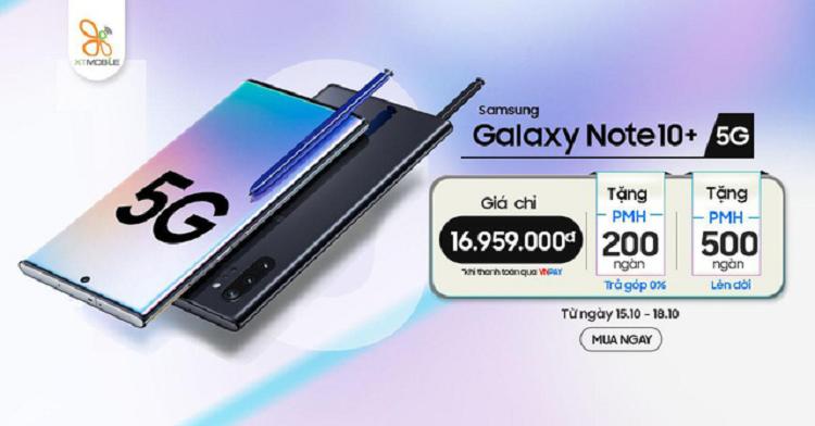 Galaxy Note 10+ 5G gia chi con 16,9 trieu dong tai Viet Nam