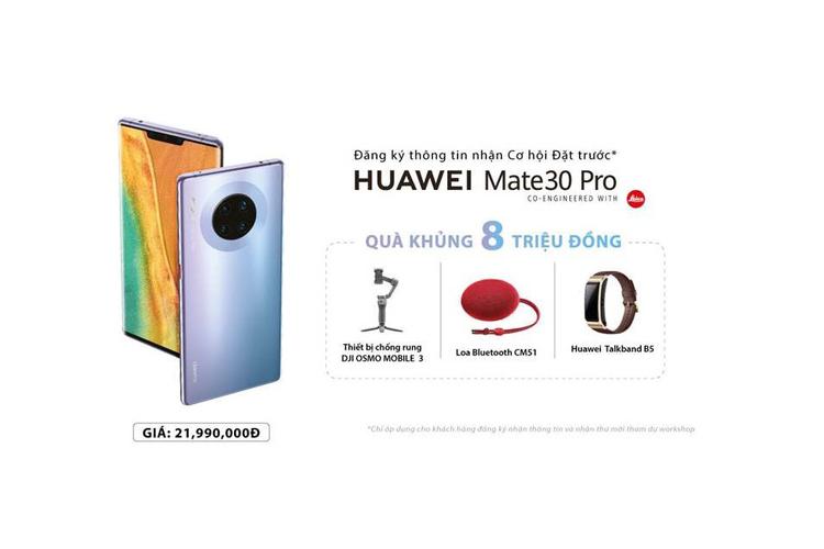 Huawei ban Mate 30 Pro tai Viet Nam: Gia 22 trieu, khong co dich vu Google