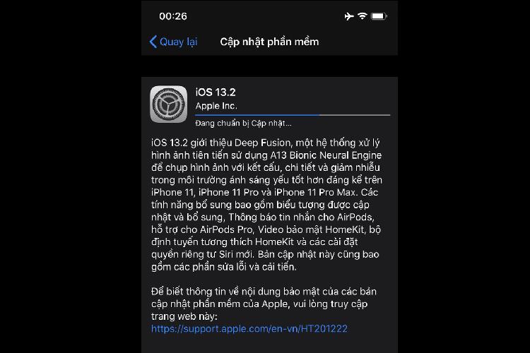 Apple ra mat iOS 13.2: Sua hang loat loi, ho tro AirPods Pro