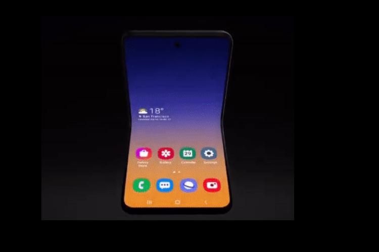 Samsung tung concept moi ve smartphone man hinh gap kieu vo so