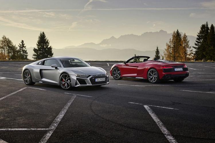 Sieu xe Audi R8 2020 dan dong cau sau tu 3,8 ty dong
