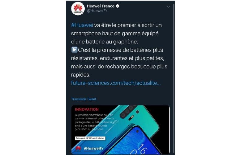 Huawei P40 se khong co pin graphene, tat ca chi la nham lan