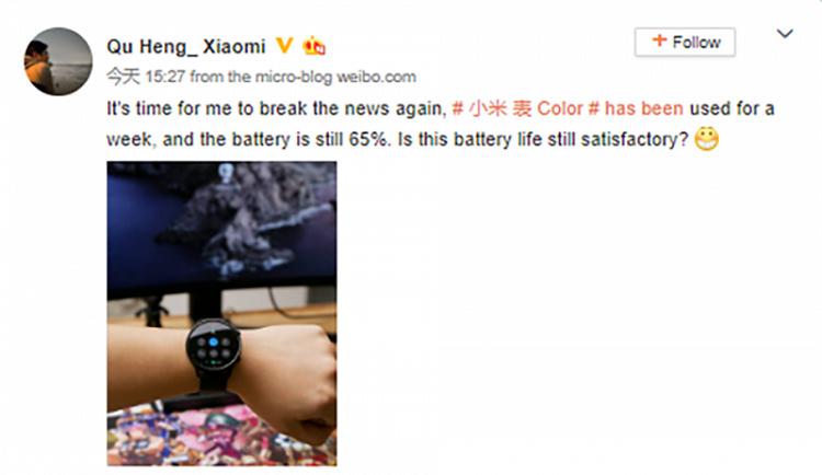 Xiaomi Mi Watch Color co pin len toi hon 2 tuan su dung-Hinh-2