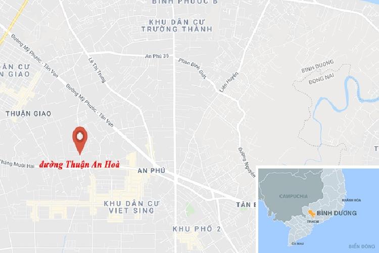 Chay bai phe lieu o Binh Duong, hai xe tai bi thieu rui-Hinh-2