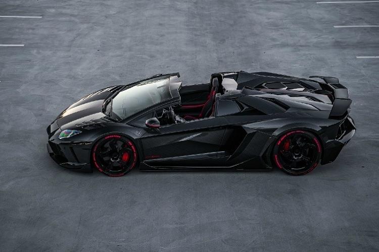 Lamborghini Aventador phong cach may bay tang hinh tu Mansory