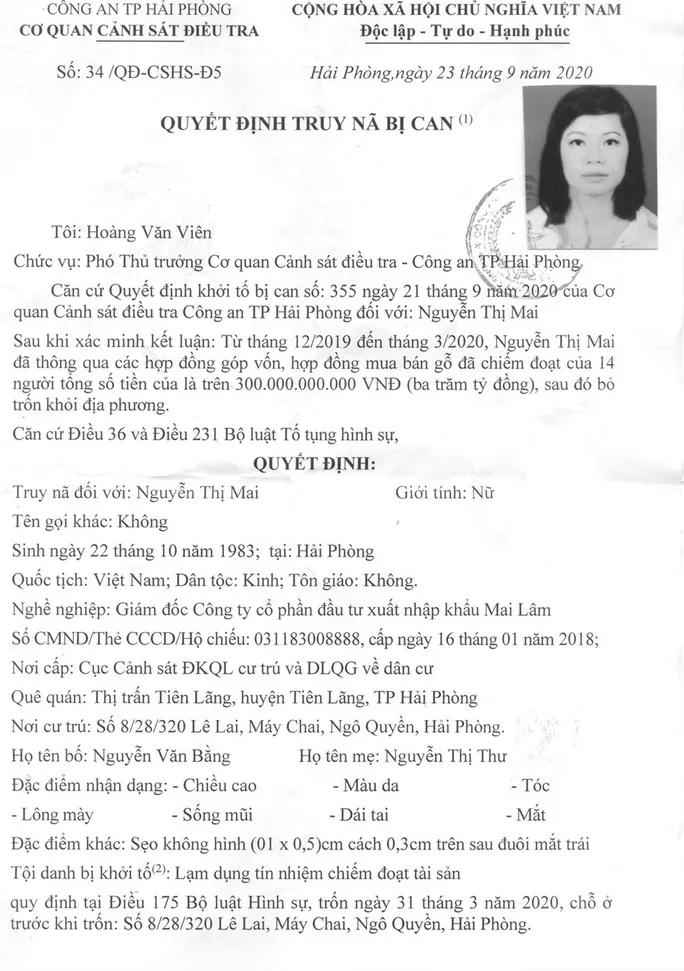 Truy na nu doanh nhan dat Cang lua dao 300 ty dong