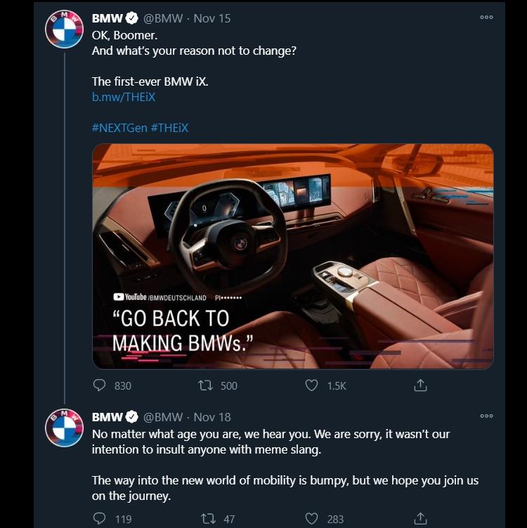 BMW xin loi vi thong diep chi trich nguoi dung lac hau