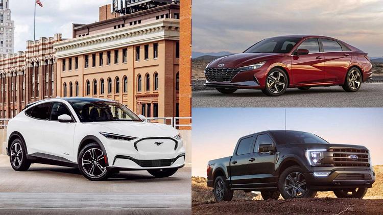 Hyundai Elantra, Ford F-150 va Mustang Mach-E la giai xe cua nam