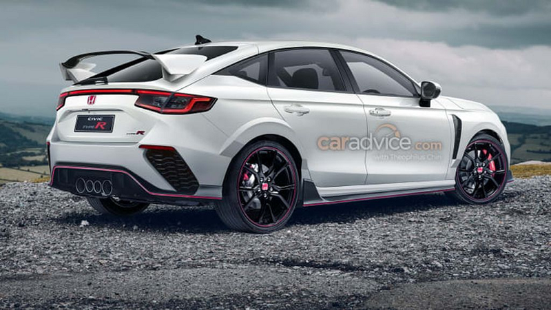 The new Honda Civic Type R 2022 will have a manual number-3