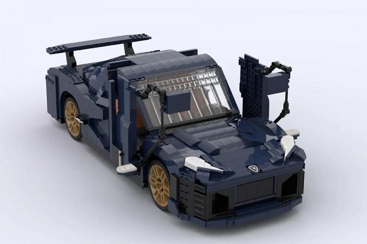 Sieu xe dien Rimac Nevera duoc lam tu hon 2.000 manh ghep Lego