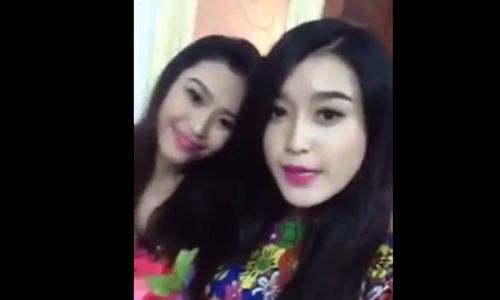 Xon xao clip A hau Huyen My chuc mung nam moi 2015