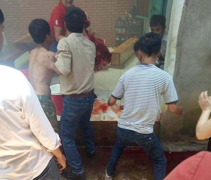 Dak Lak: No binh gas, hai chau be nguy kich