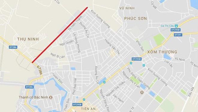 Bac Ninh doi 100ha dat lay 1,39km duong: Pho Thu tuong chi dao kiem tra